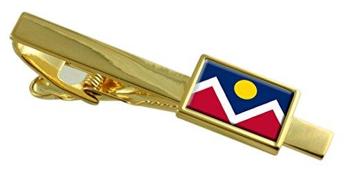 Denver City USA-Flagge Gold Krawattenclip