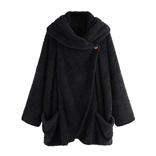 OSYARD Damen Reißverschluss Kapuzenpulli Mantel Winter Warme Wolltaschen Mantel Outwear, Frauen Wollmantel Fuzzy Sherpa Sweatshirt Fleece Pullover Warmer Sweatjacke Fleecejacken Strickjacke Biber Sweatshirt