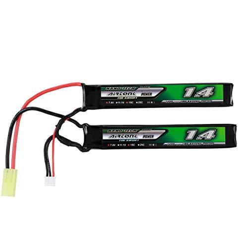 7,4 V 1400 mAh 15C 2 S Lipo Batterie Mini Tamiya Stecker Wiederaufladbare Doppelzelle für Modell Gun Toy Boy Geschenk -