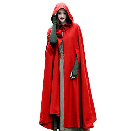 MORETIME Trenchcoat Damen Halloween Umhang, Frauen Trenchcoat offene Front Strickjacke Jacke Mantel Cape Mantel Poncho Plus 2019 Winter