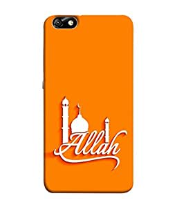 PrintVisa Designer Back Case Cover for Huawei Honor 4X :: Huawei Glory Play 4X (Allah White God Religious Muslim Maszid Orange Fort Temple Allah)
