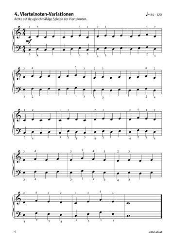 Meine ersten Fingerübungen! 46 Übungen für Klavier, Keyboard & Orgel – für Kinder ab 8 Jahren & Erwachsene. Fingertraining. Lehrbuch für Piano. Musiknoten. - 4