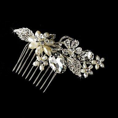 Zormey Peignes de perles d'eau douce Fleur de mariée mariage Accessoires Cheveux