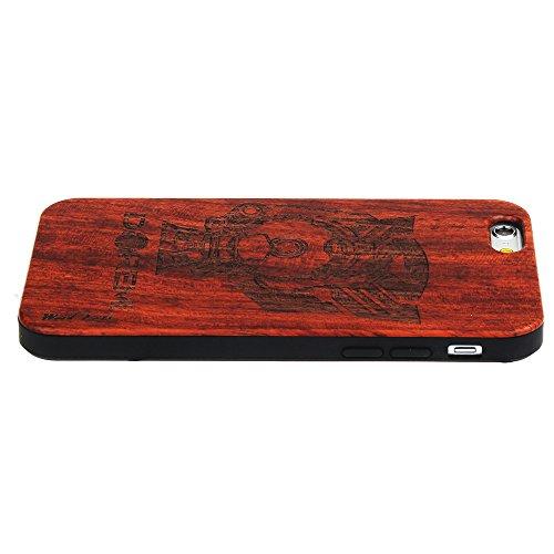 per iPhone 7 Custodia, Forepin® Reale Handmade Legno Retro Custodia Cover Protettivo Skin Caso Hard PC Bumper Case per iPhone 7 - Colore 12 Colore 08