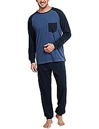 Schiesser Selected Premium Anzug Lang, Ensemble de Pyjama Homme