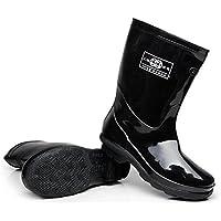 Y&XIEXIE Herren kurze Stiefel / Autowaschstiefel / Wasserstiefel , black , 40