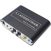 Luzan 5.1Audio Gear Digital Sound Decoder Convertidor óptico SPDIF coaxial Dolby AC3DTS para 5.1canales de audio analógico