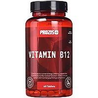Prozis B12 - Suplemento alimenticio, apto para vegetarianos y veganos - 100mcg 60 Tabletas