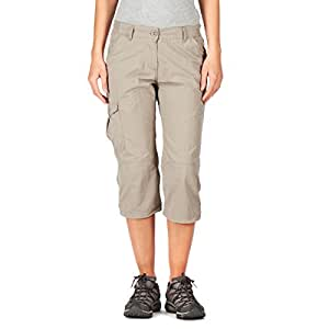 Craghoppers Nosilife Crops Ladies' Casual 3/4-Length Trousers mushroom Size:34