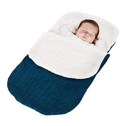 Minetom Saco de Dormir de Punto Felpa para Bebé Recién Nacido de 0 – 24 Meses para Cochecito Footmuff Invierno Caliente Cómodo Asiento de Bebé