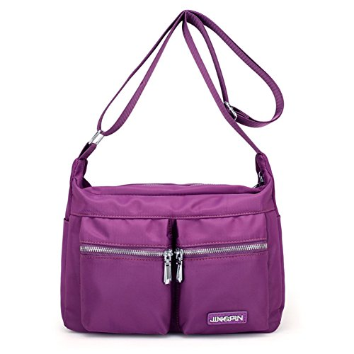 Ladies singola borsa a tracolla,messenger bag,borsa di tela-Blu porpora