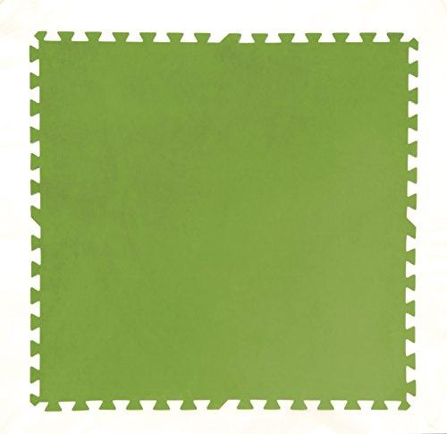 Bestway Pool Bodenschutzfliesen-Set 8 Stück 81x81x0,4cm, grün