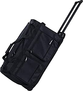 """All Bags 20"""" 24"""" 28"""" 34"""" 40"""" LARGE MEDIUM SMALL CABIN WHEELED HOLDALL SUITCASE LUGGAGE TRAVEL DUFFLE BAG"""