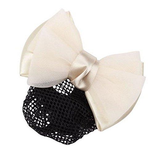 2pcs Bow Tie barette cheveux clip Snood Net coiffure pour les femmes, M