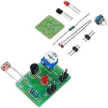 ILS - 10 Piezas Interruptor DIY fotosensible inducción electrónica Kit módulo Control óptico Bricolaje Formación Producción