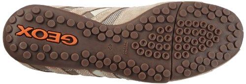 Geox U SNAKE ART.M U1107M02214C0845 Herren Sneaker Beige (BEIGE/DK ORANGE C0845)