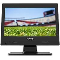"""Xoro PTL 1250 12,5"""" (31.75 cm) Tragbarer Fernseher mit integriertem DVB-T2 Tuner (H.265/HEVC-Dekoder, CI+ Schacht und USB Mediaplayer) schwarz"""