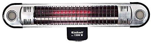 Einhell Halogenheizer IHS 1500 W (1500 W, Fernbedienung, LED-Beleuchtung für Außenbereich, Wandhalterung)