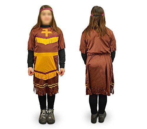 537561 Costume di carnevale travestimento indiana da Bambina da 9 a 12 anni. MEDIA WAVE store ®