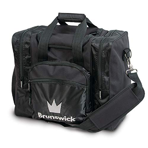 Brunswick Edge 1-Ball-Bowling-Tasche für 1 Bowlingball, Bowlingschuhe und Bowlingzubehör (Schwarz)