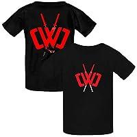 OWIIWJS Kids CWC Logo Double Print T Shirt Summer Tees Soft Crewneck Tops