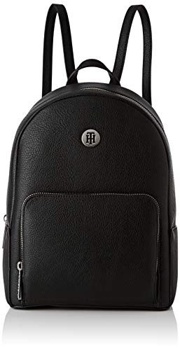 Tommy Hilfiger Damen Th Core Mini Backpack Rucksack, Schwarz (Black), 12x27x21 cm -