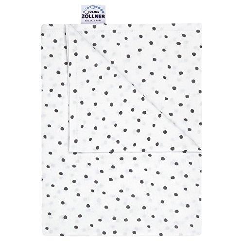 Julius Zöllner Jersey Kuscheldecke Schmusedecke Decke 70x100 Dots grau