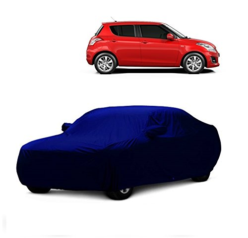 MotRoX Car Body Cover For Maruti Suzuki Swift with Side Mirror Pocket (Navy Blue)  available at amazon for Rs.649