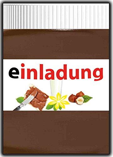 11er Set Einladungskarten Schokolade lustige Einladung Kindergeburtstag für -