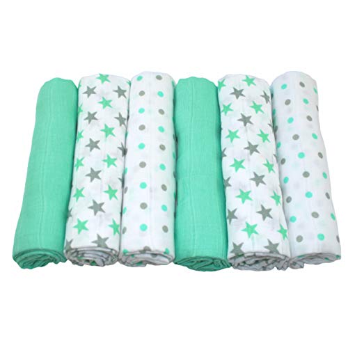 MuslinZ: 6 piezas de muselina para bebé
