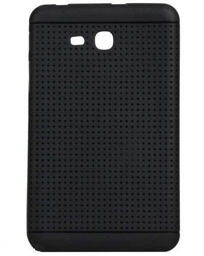 KANICT® Exclusive Dotted Matte Finished Soft Rubbersied Back Case Cover for Samsung Galaxy Tab A 7.0 (T280, T285) Tablet - Black