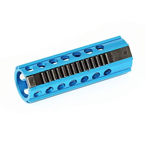 Airsoft Softair CNC Stahl 14 Zähne Kolben für V2 Version 2 Getriebe Gearbox Blau (Airsoft Stahl Kolben)