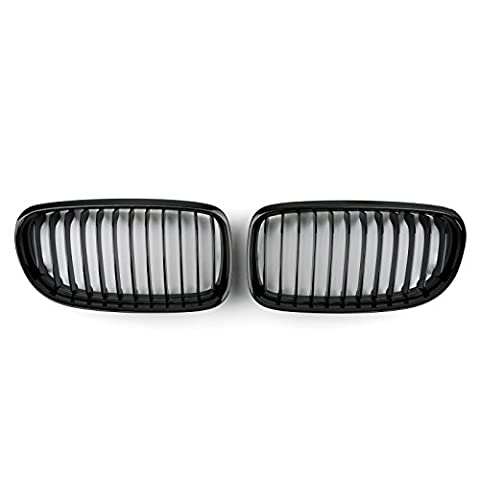 Areyourshop Gloss Black Front Kidney Grill Mesh Grille Nose