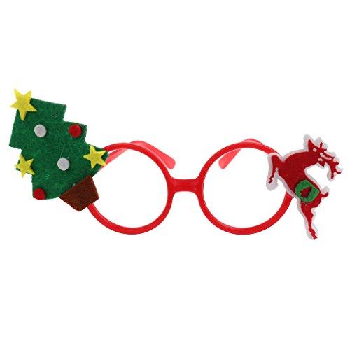 ty-Gläser Lustige Weihnachts Brillen Rahmen Weihnachts Schmuck Geschenke für Kinder und Erwachsene - Weihnachtsbaum und Hirsch (Weihnachtsbaum Kostüme Für Erwachsene)