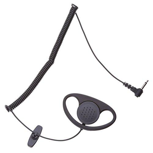 F Fityle Funkgeräte Einseitig Ohrhörer 1 Pin D-Ring Polizei Security Ohrhörer Headset Für Zwei-Wege Radio, Kompatibel mit Alle Handys Security-radio-headset