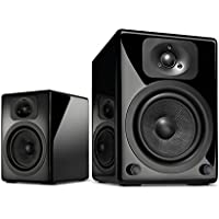 Wavemaster TWO BT Stereo Regal-Lautsprecher mit Bluetooth-Audio-Streaming/aptX, schwarz
