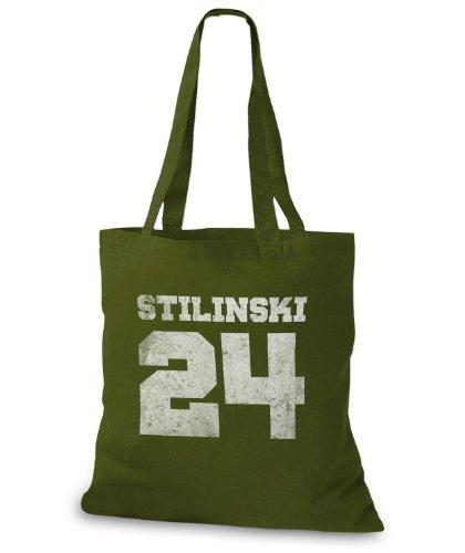 StyloBags Jutebeutel / Tasche Stilinski 24 vintage Style Khaki