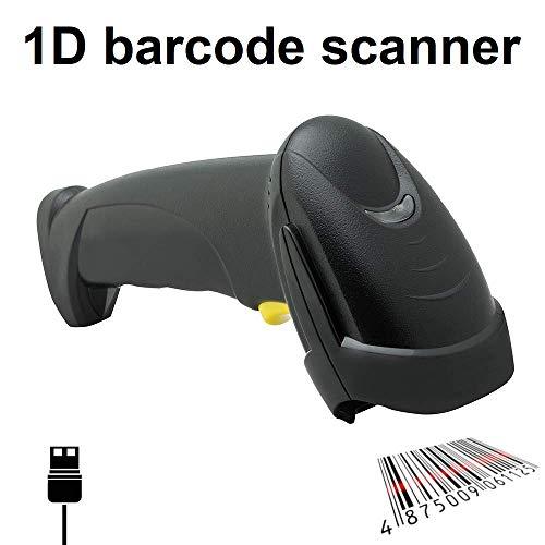 Maxxo SL1DUS 1D Laser Barcode Scanner mit Halterung | USB-kabel Shnittstelle | Kann auch lange Barcodes mit hoher Dichte problemlos lesen