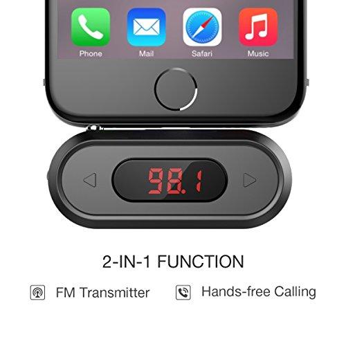 Doosl FM-Transmitter 3.5mm FM Transmitter mit Display Musik Empfänger für iPhone 6/5/4, iPad, iPod, Samsung Geräte und Alle Smartphones (Iphone Fm-transmitter Ipod)