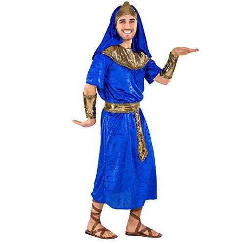 Herrenkostüm Pharao Echnaton | hochwertiges, bequemes Gewand | inkl. Gürtel, Armstulpen & Pharaonen-Kopfbedeckung (XXL | Nr. 300513) (Machen Sie Es Sich Paare Halloween Kostüme)