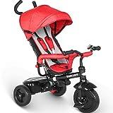 besrey Dreirad 4 in 1 Kinderdreirad Dreirad für Kinder Tricycle mit Schubstange Sonnendach ab 1 Jahre bis 6 Jahre …