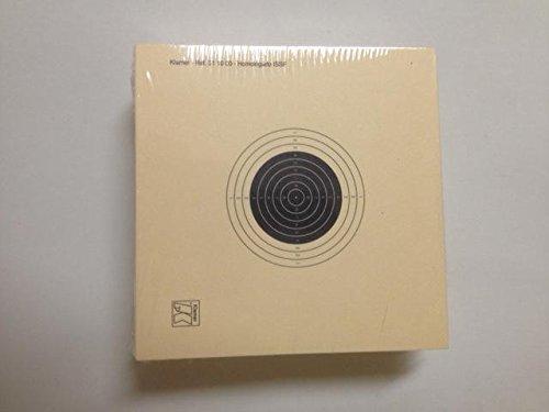 Klamer Confezione da 100 bersagli - Carabina aria compressa - 10 * 10 Cm, UITS. Prodotto di prima qualità Carta Col 200 grs.