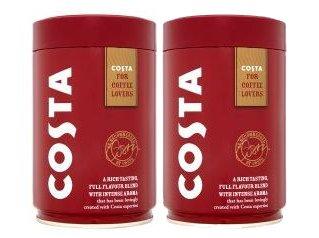 COSTA Roast & Ground Coffee (2 x 250g Caddy Tin)