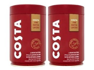 COSTA Roast & Ground Coffee (2 x 250g Caddy Tin) 41Hw 2BvyAltL