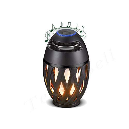 Luceco - ♣ Musik und Licht Wiederaufladbarer LED-Fackel, der eine Flamme simuliert. Eingebaute Bluetooth-Lautsprecher Anschluss an Tablet und Android-IOS- Android