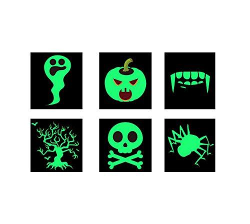 AMDXD Halloween Phosphoreszenz Aufkleber Gespenst Kürbis Vampir Zähne Totenkopf Baum des Lebens (Halloween Mehr Muffins Kinder)