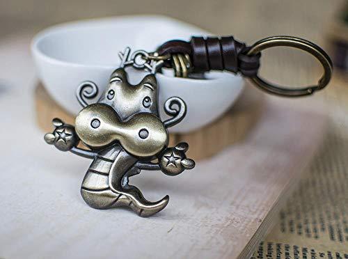 Ou lida Tierkreis Keychain Beutel-Anhänger-Auto Keychain handgemachter Legierung KeychainDrache -