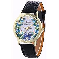 Beautiful Watches , Women's Fashion Analog Stripe Ladies' Christmas Butterfly Display Strap Bohemia Quartz Wrist Watch