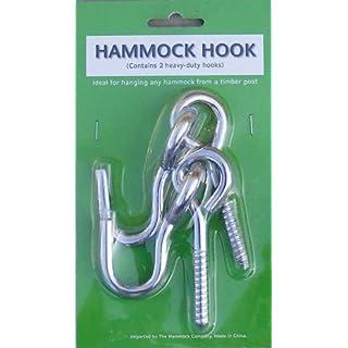 Hängematten Hakenschrauben Packung FHB-SH-A Hammock Screw Hook Pack 0.36kg Schwere Stahlschraubhaken zum Aufhängen dauerhafter Hängematten oder Hängesessel
