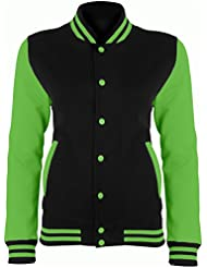 Electric varsity jacket Jet Black-Electric Green XL